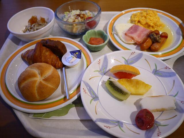 白浜温泉むさし 朝食バイキング料理画像