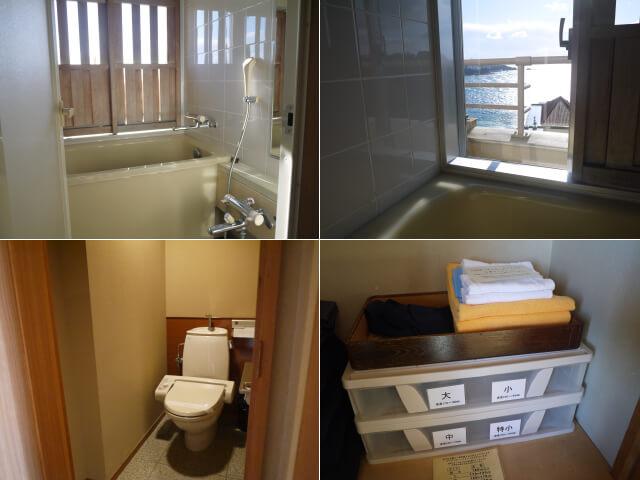 白浜温泉むさし トイレ、浴室画像