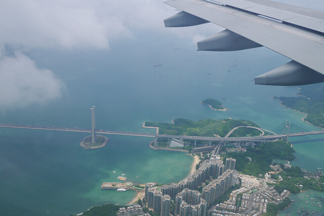 上空から撮影した風景画像
