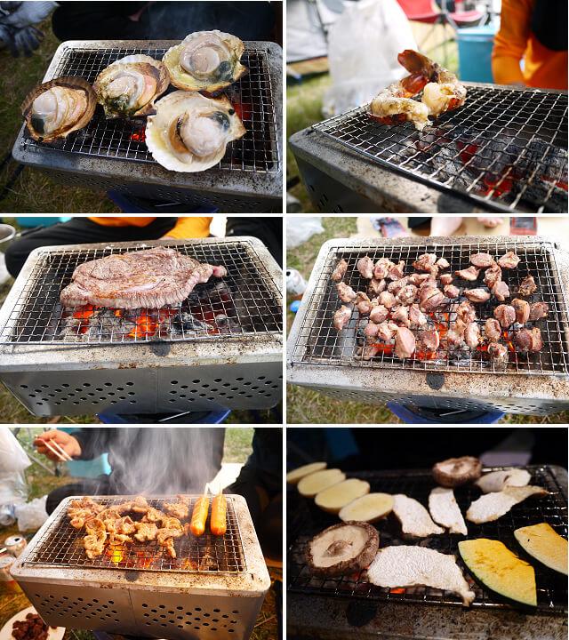 キャンプ飯 焼き物画像