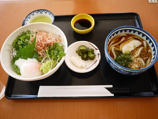 遠州釜揚げしらす丼の小うどんセット画像
