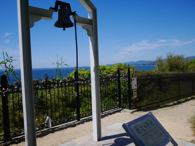 浜名湖サービスエリア 芝生広場にある恋人の聖地画像
