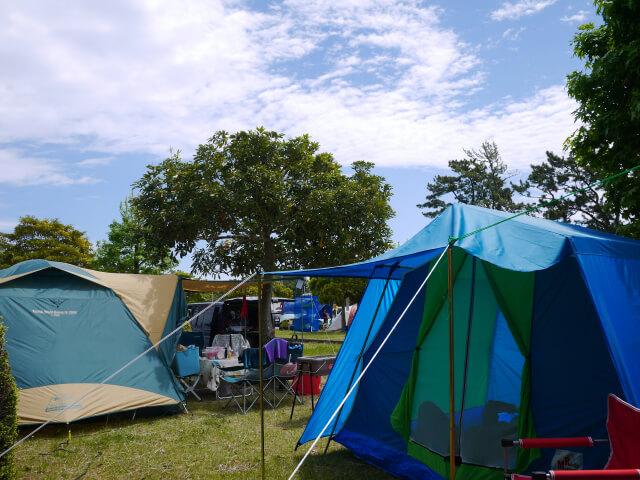 キャンプの風景画像