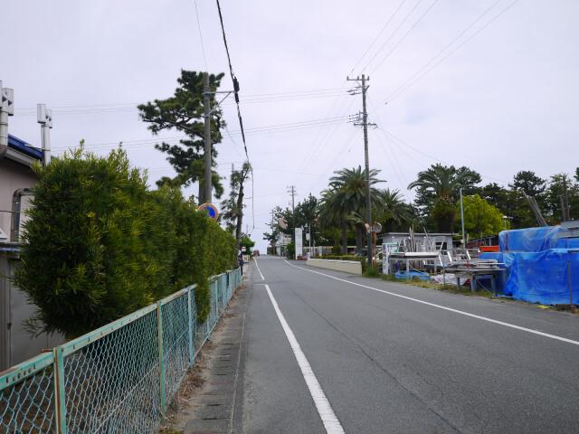 静波キャンプ場前の道路画像