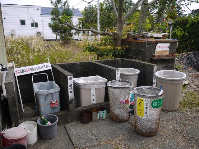 静波キャンプ場のゴミ置き場画像