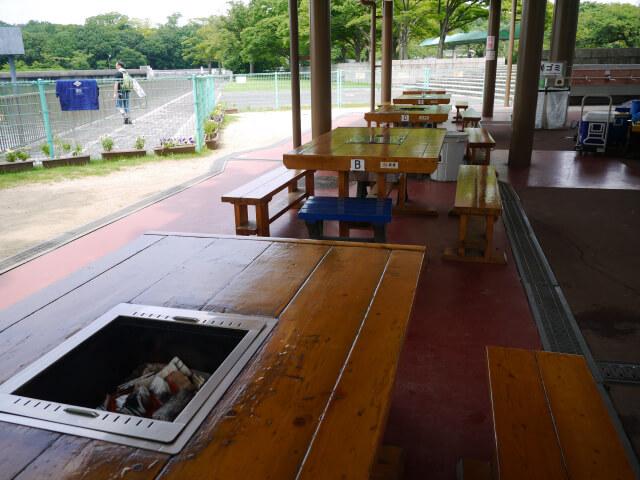 万博記念公園バーベキューコーナー画像