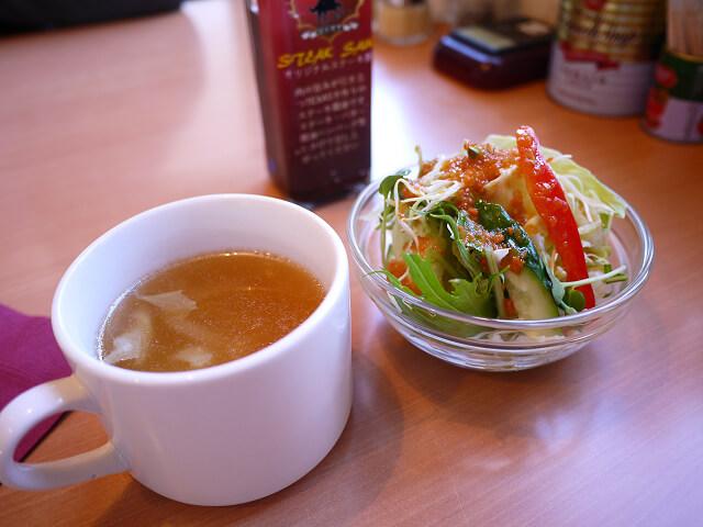 ステーキテキサス南紀白浜店 スープ&サラダ&自家製ソース画像