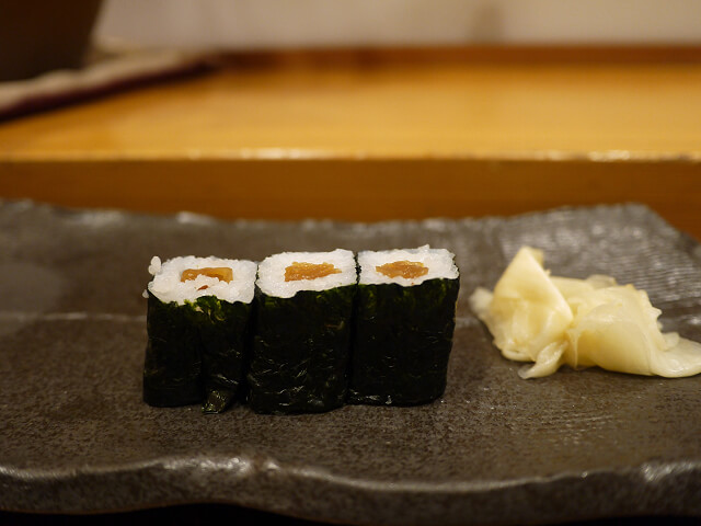 音羽茶屋新伊丹店 寿司コース かんぴょう巻画像