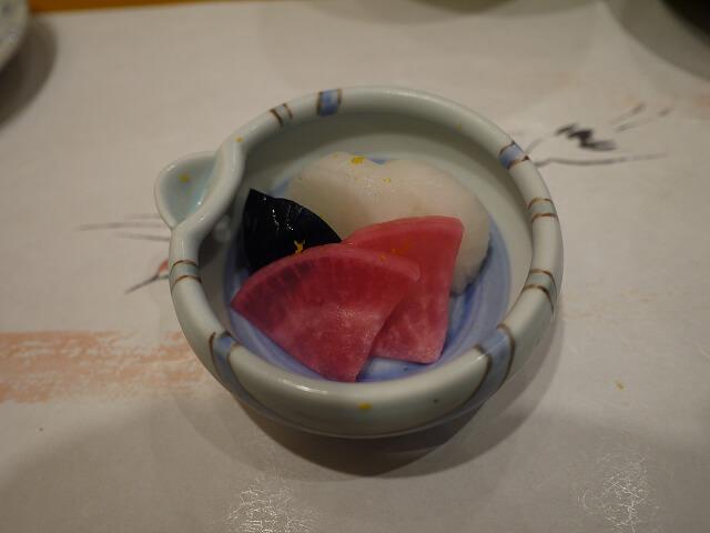 音羽茶屋新伊丹店 寿司コース 本日の漬物画像