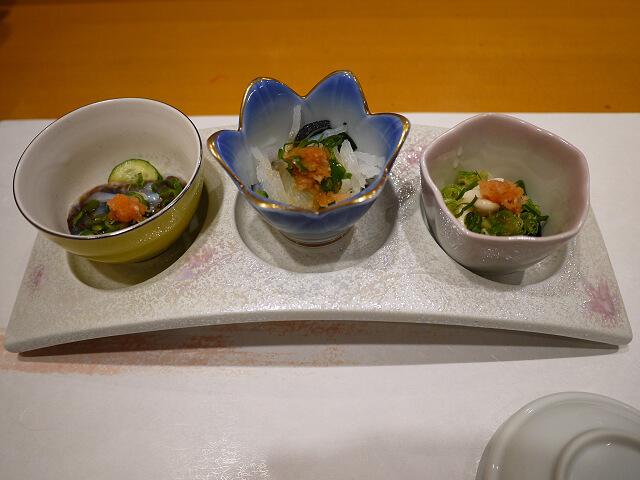 音羽茶屋新伊丹店 寿司コース 先付け画像