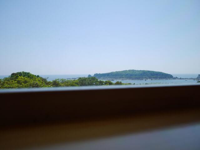 カウンター席から見る風景画像