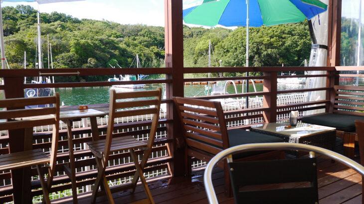 南紀白浜 Kagerou Cafe(かげろうカフェ)で景色を味わうモーニング。