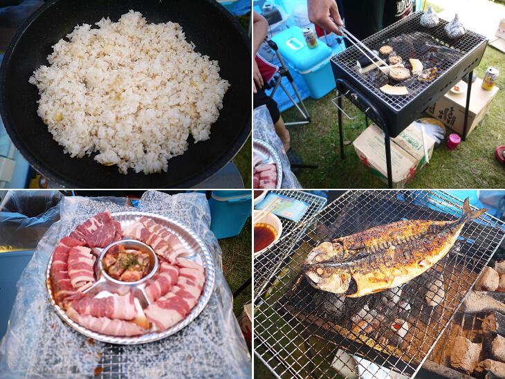 2日目のキャンプで食べた食材の画像