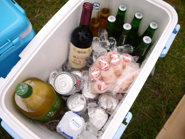 キャンプで用意した飲み物画像