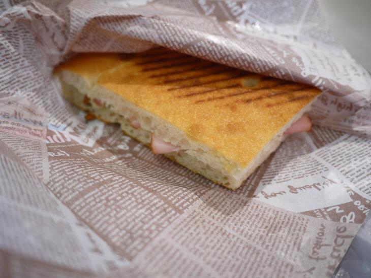 ハムチーズホットサンド画像