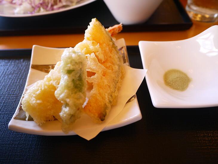 冷やしうどん御前の天ぷら画像