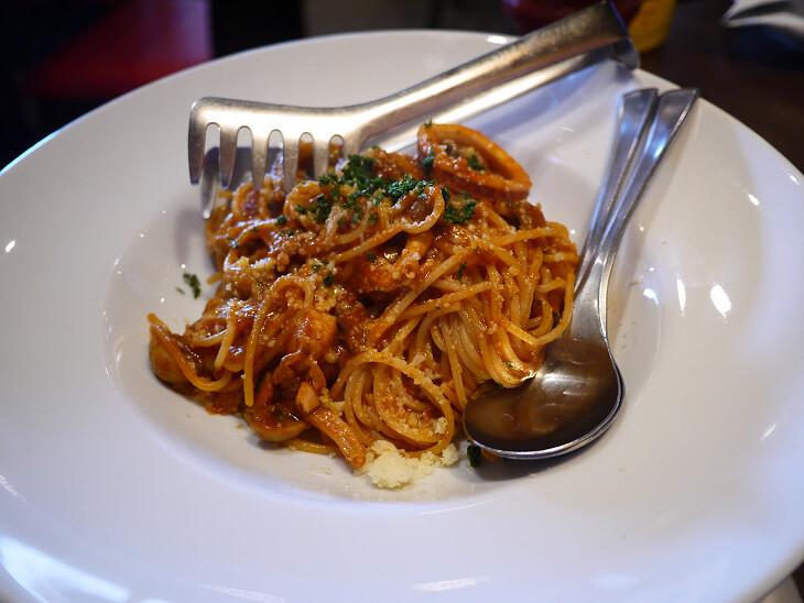TGIフライデイズ ユニバーサル・シティ和幸ビル店のシーフードスパゲティ画像