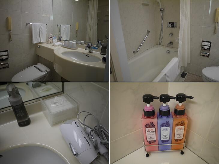 ホテル京阪 ユニバーサル・タワー カジュアルツインのトイレとバスルーム画像