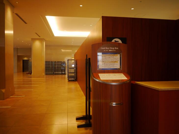 ホテル京阪 ユニバーサル・タワー 3階ロビーにあるキーボックス画像