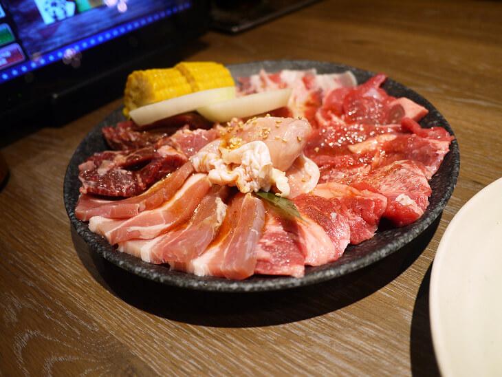 カルビチャンプのペアセットの肉画像