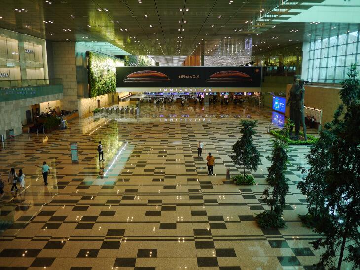 チャンギ国際空港イミグレーション画像