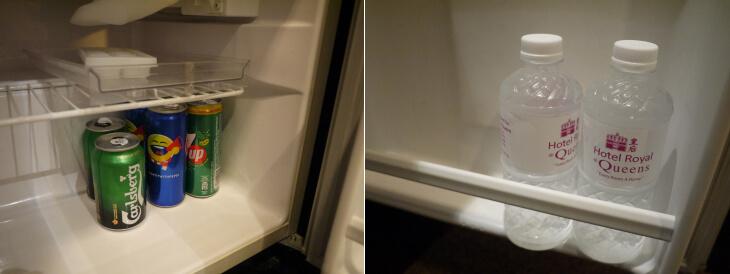 ホテル ロイヤル@クイーンズ 室内の冷蔵庫画像