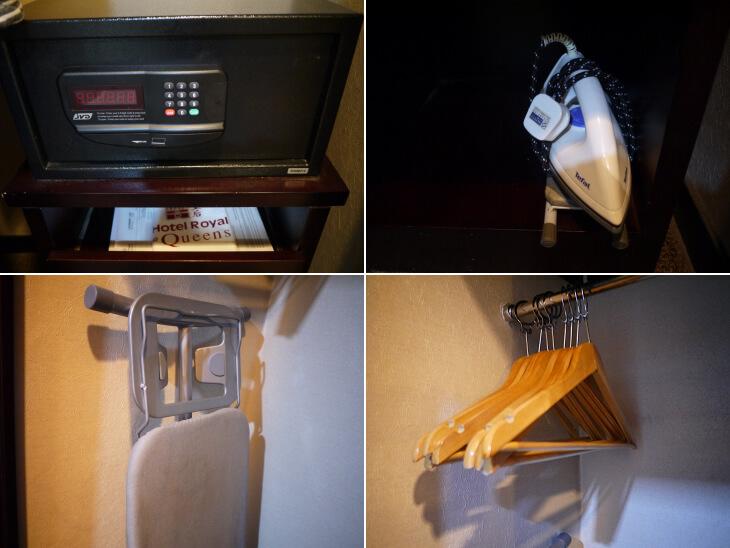 ホテル ロイヤル@クイーンズ 室内クローゼットの中にある備品画像