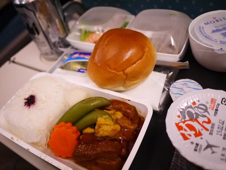 SQ619便(A380-800)Yクラス機内食和食画像