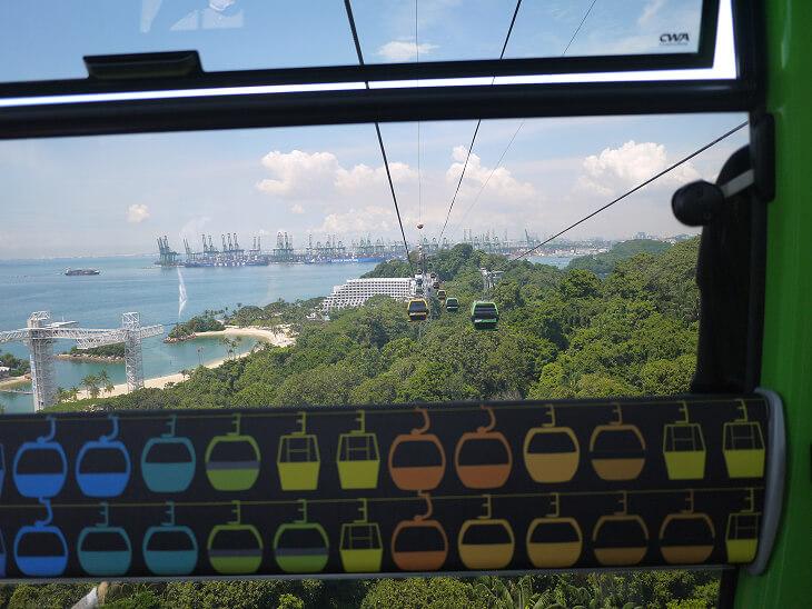セントーサラインケーブル内から撮影した景観画像