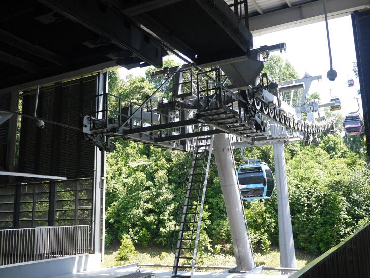 シロソ・ポイント駅から撮影したケーブルカー画像