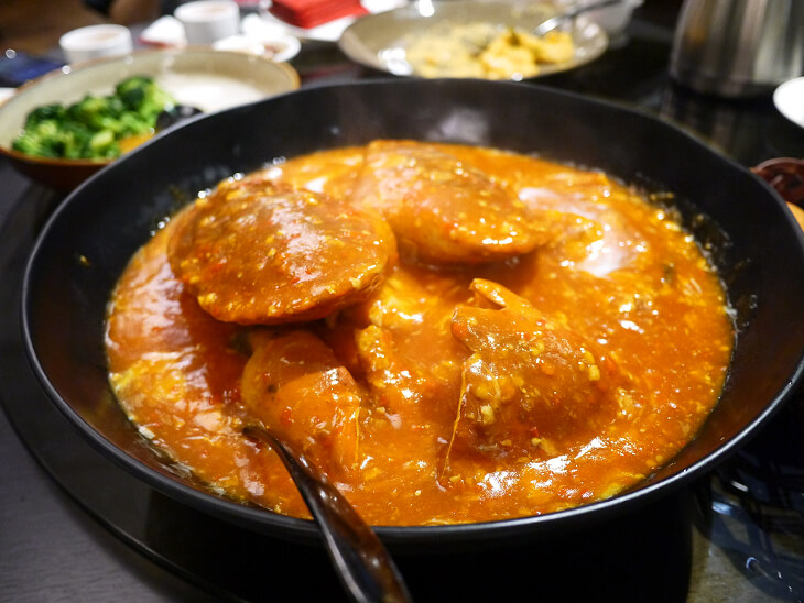 RED HOUSE SEAFOODチリクラブのコース料理画像