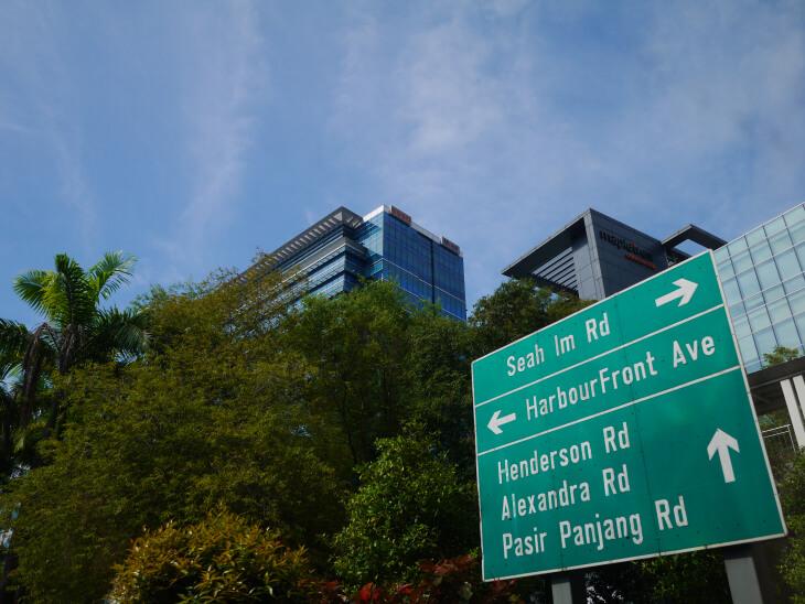 シンガポール道路案内標識画像