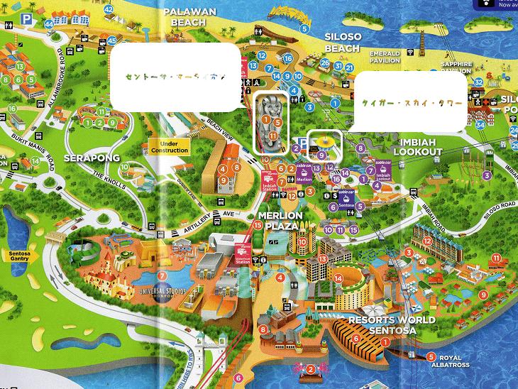 セントーサ島マップ画像