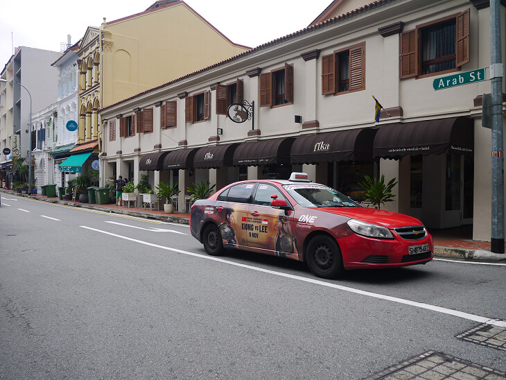 トライショーによるシンガポール市内観光タクシー画像
