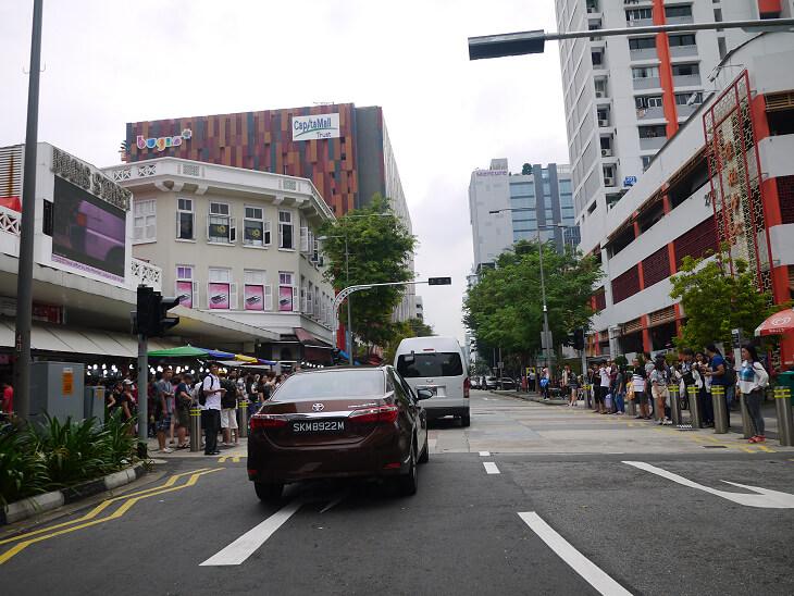 トライショーによるシンガポール市内観光トライショーパーク到着画像
