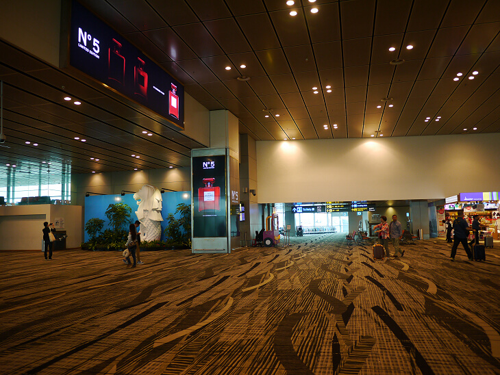 チャンギ国際空港ターミナル3中央エリア画像