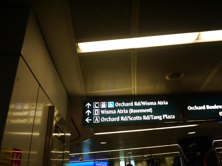 シンガポールオーチャードの地下道画像