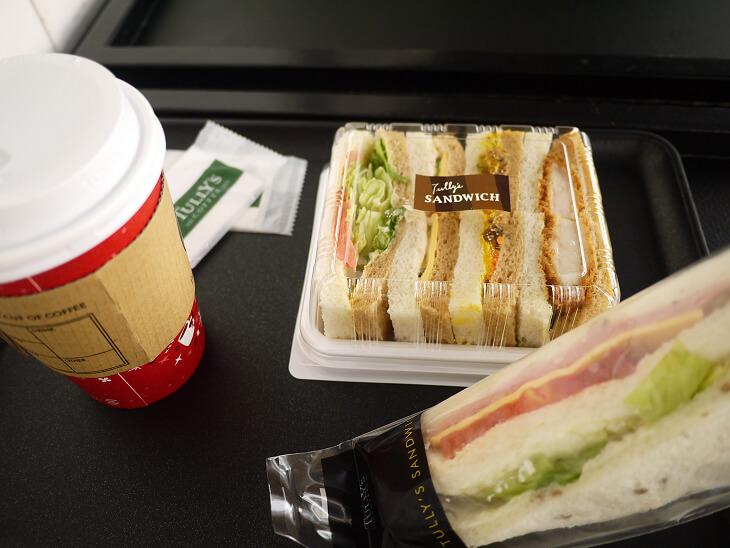 タリーズコーヒーのサンドイッチ画像