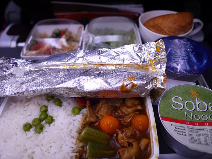 SQ622便 昼食 和食画像