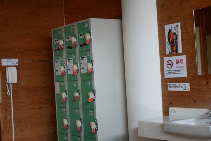 梅園の里 脱衣所にあるコインロッカー画像