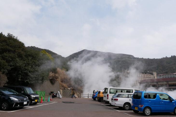 雲仙地獄第3駐車場画像