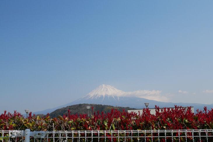 富士川SA上りから見る富士山画像