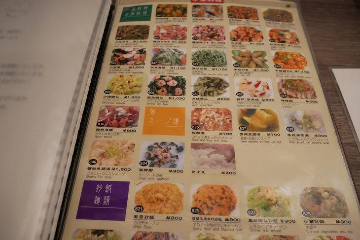 新宿CITY HOTEL N.U.T.S東京 室内にあったメニュー画像
