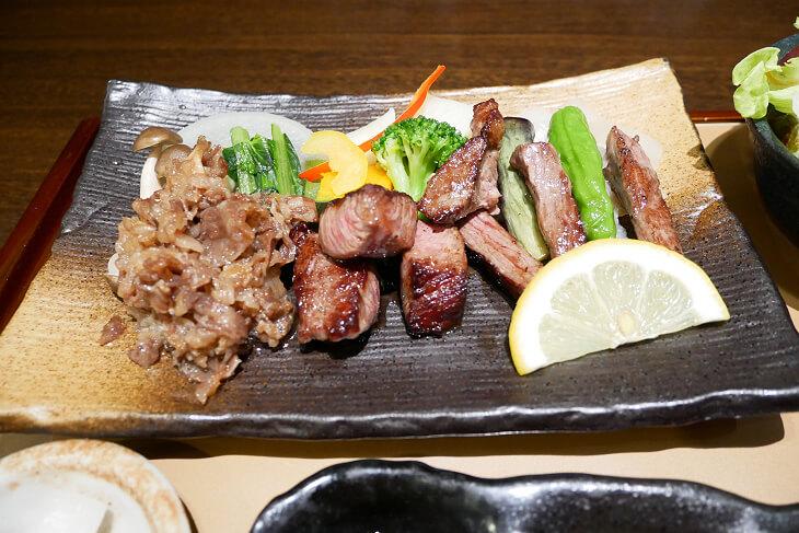 近江牛三種盛のお肉アップ画像