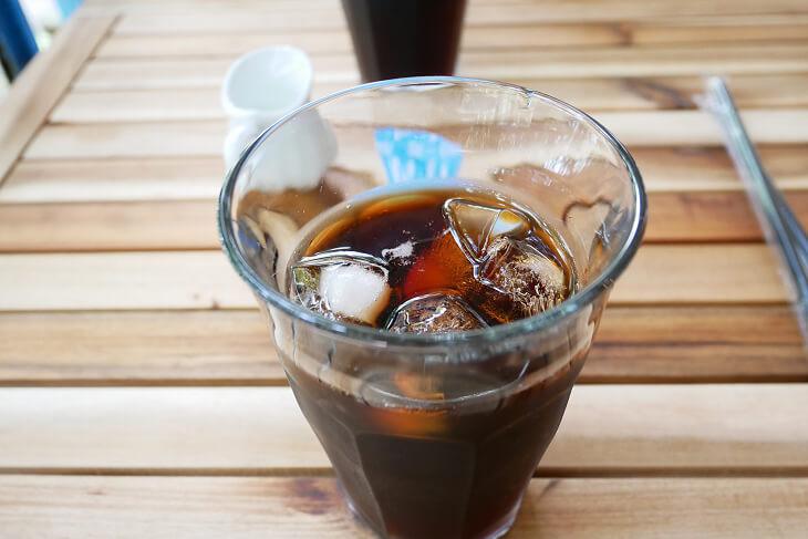 boathouse cafeで注文したアイスコーヒー画像