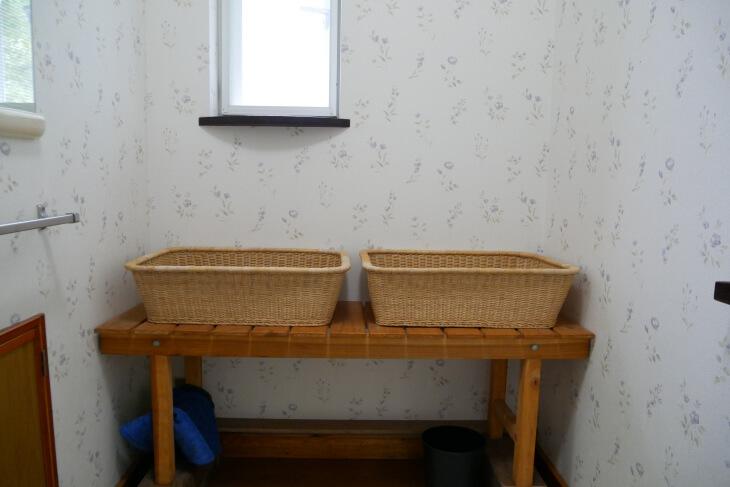 プチペンション アルファ家族風呂の脱衣所画像