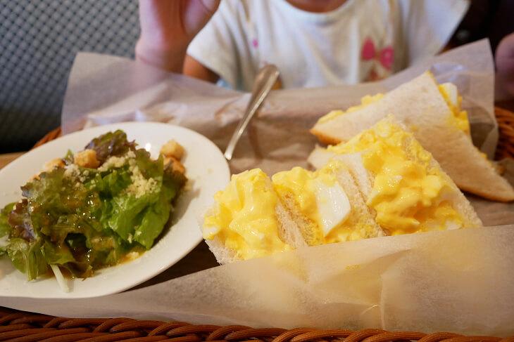 倉敷コーヒー 玉子サンドのモーニング画像