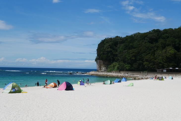 和歌山ラーメン和んの帰りに立ち寄った白良浜画像